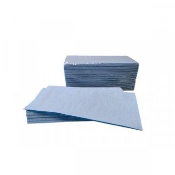 Pack 3920 Toallitas Plegadas Celulosa 100% Pasta Azul. 20x23CM. 2 Capas.