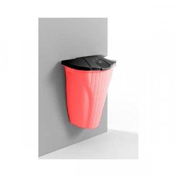 Papelera Colgante 50L. Color Rojo y Negro.
