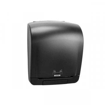 Dispensador Papel Toalla Katrin Inclusive. Medidas 33,5x40,3x21,6CM. Color Negro.